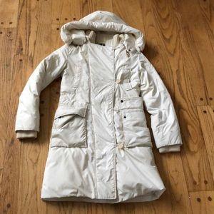 Theory cream long puff coat jacket
